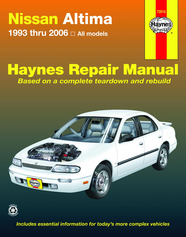 nissan altima 1993 2006 car repair manuals haynes. Black Bedroom Furniture Sets. Home Design Ideas