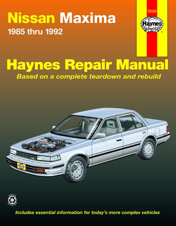 nissan maxima 85 92 haynes repair manual haynes manuals rh haynes com 98 nissan maxima repair manual 1998 nissan maxima service manual