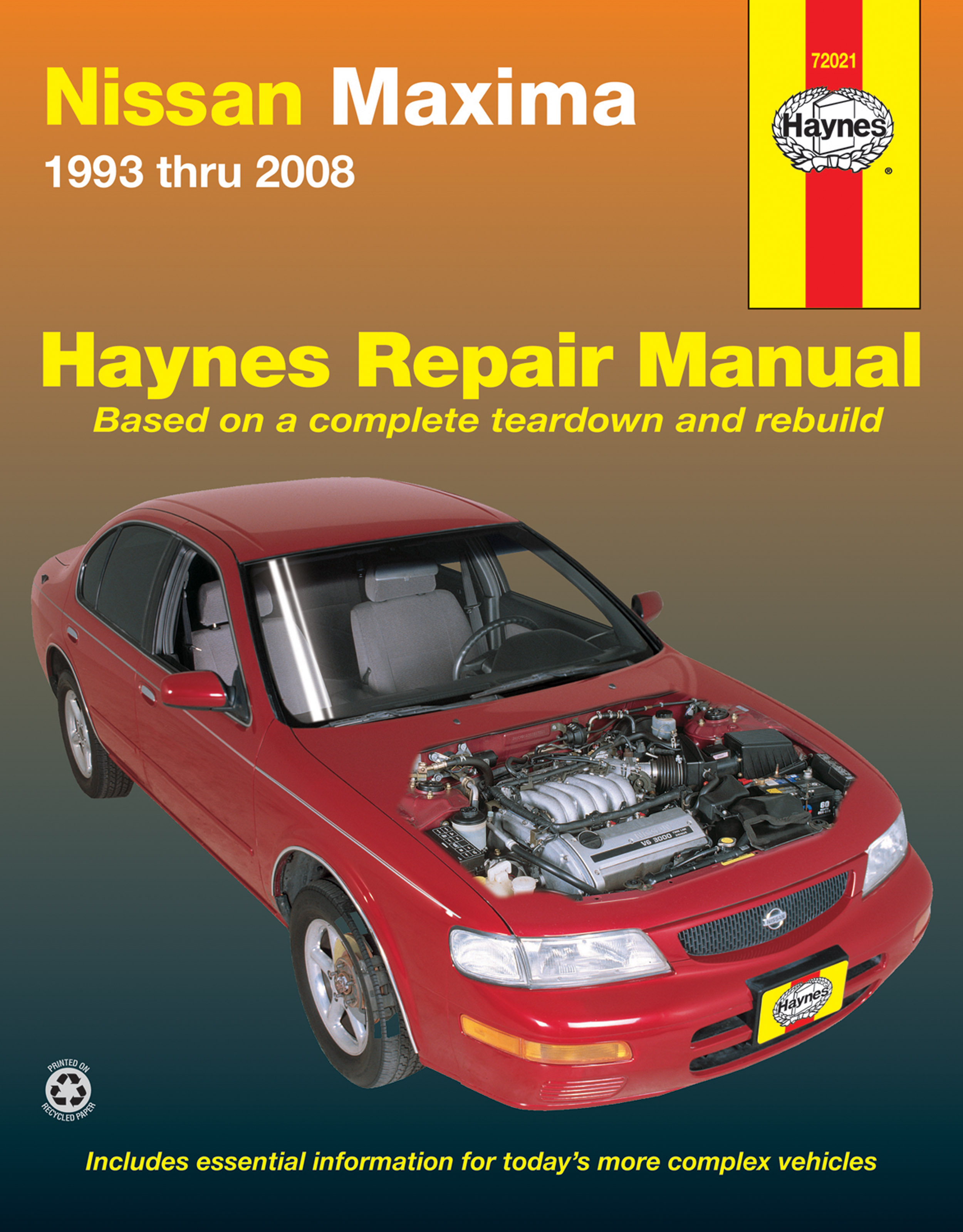 Maxima Haynes Manuals 1994 Automatic Transmission Wiring Diagram Printed Manual Enlarge Nissan