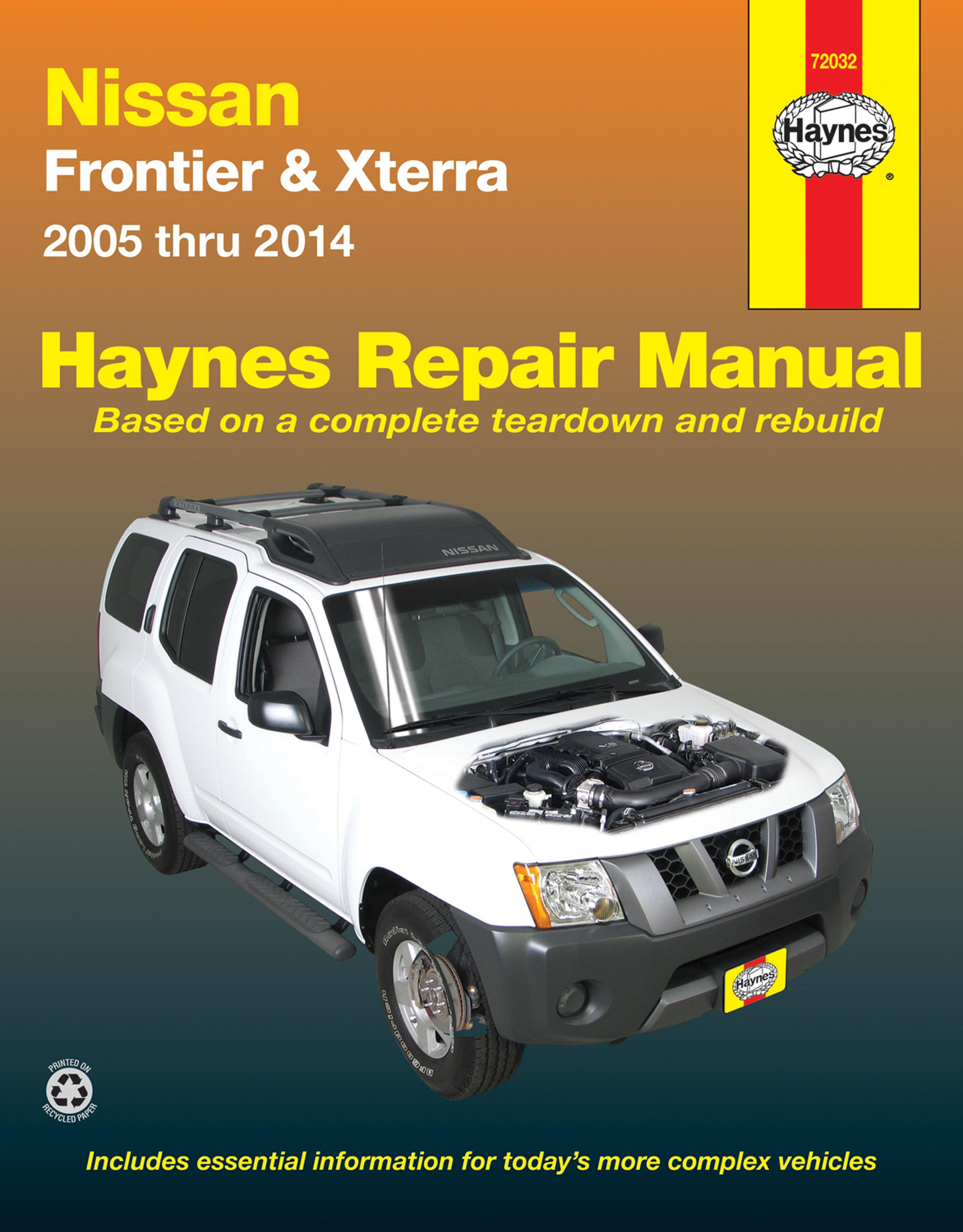 Frontier Haynes Manuals 2008 Nissan Xterra Engine Diagram Enlarge