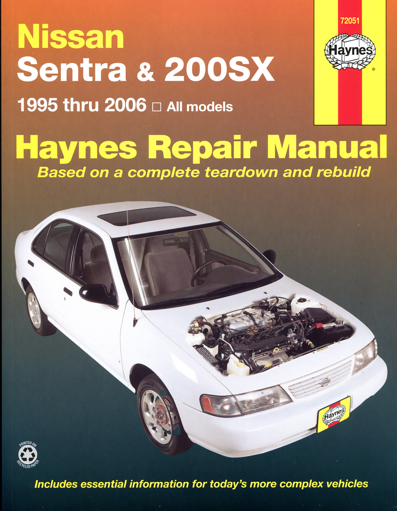 Enlarge Nissan Sentra & 200SX (95-06) Haynes Repair Manual