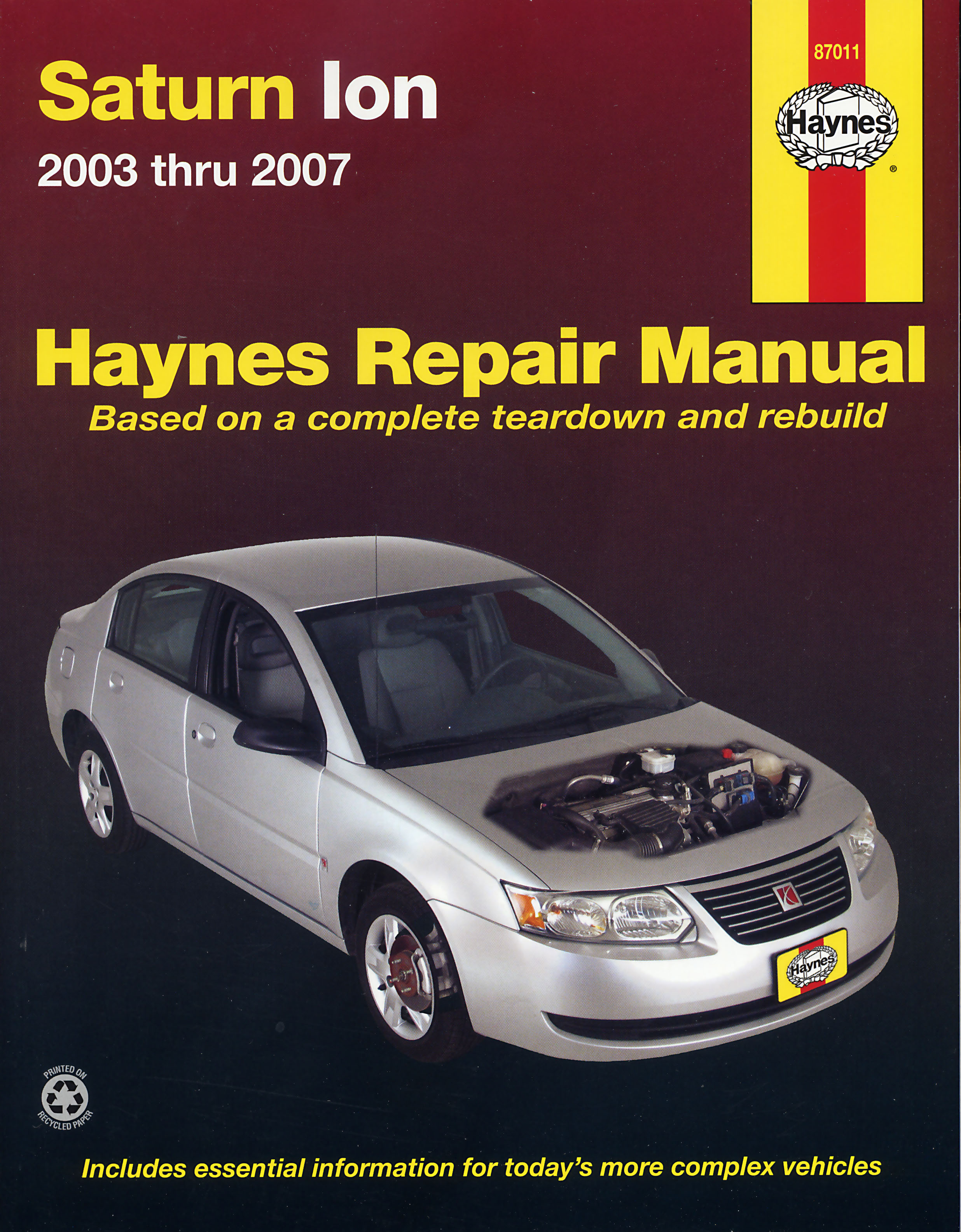 ... Saturn Ion (03-07) Haynes Repair Manual. Enlarge ...