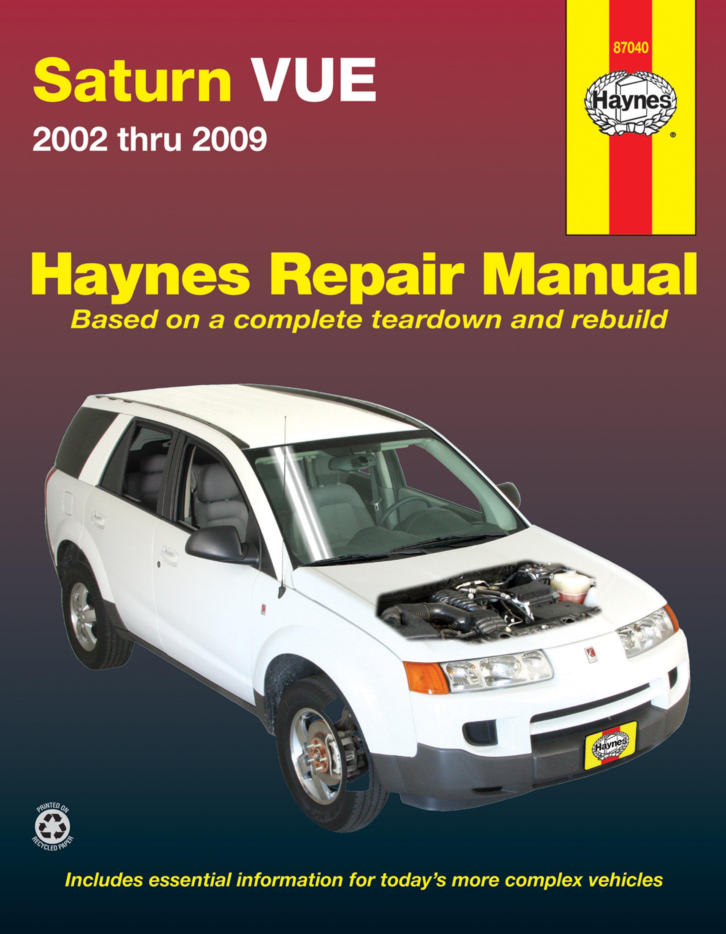 Enlarge Saturn VUE (02-09) Haynes Repair Manual