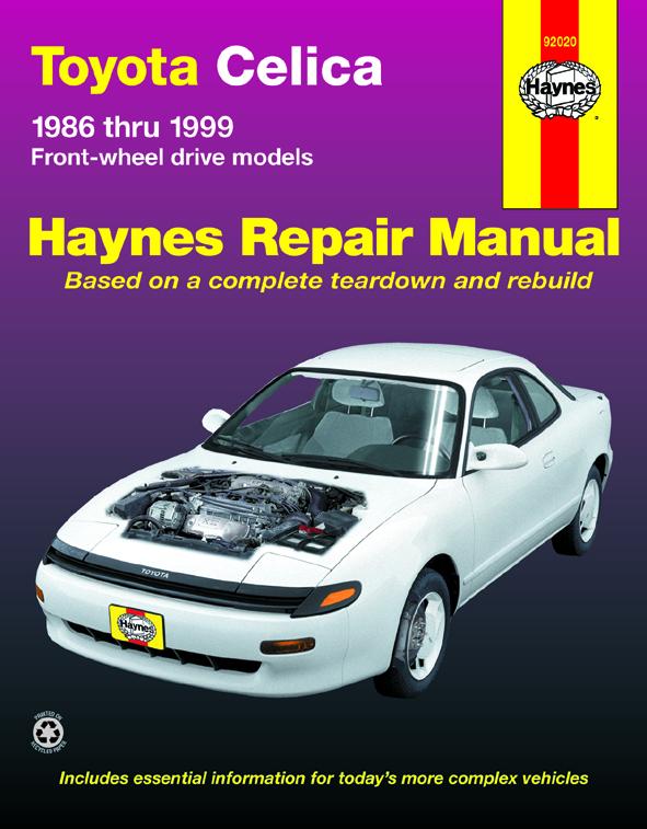 toyota celica fwd 86 99 haynes repair manual haynes manuals rh haynes com haynes manual toyota verso haynes manual toyota tundra
