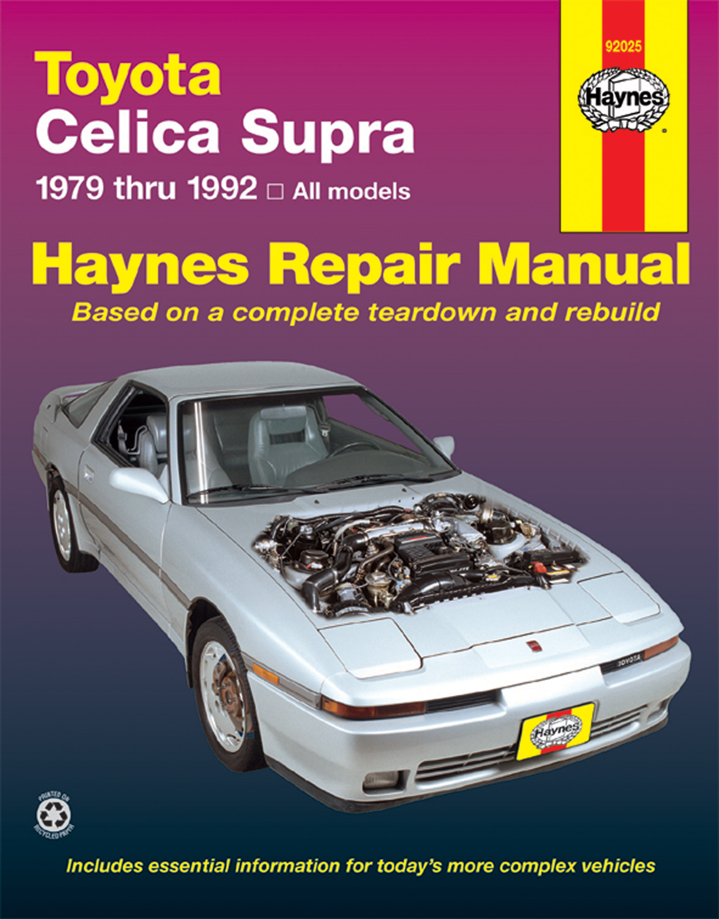 Enlarge Toyota Celica Supra (79-92) Haynes Repair Manual