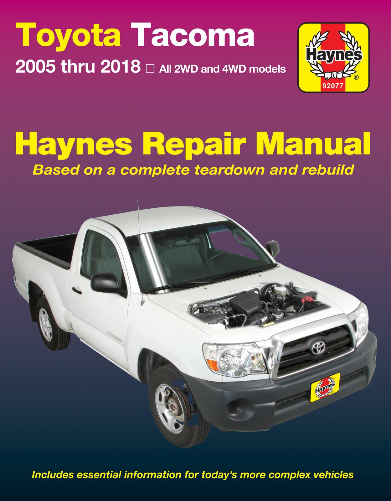 Toyota Tacoma (05-15) Haynes Repair Manual | Haynes Manuals