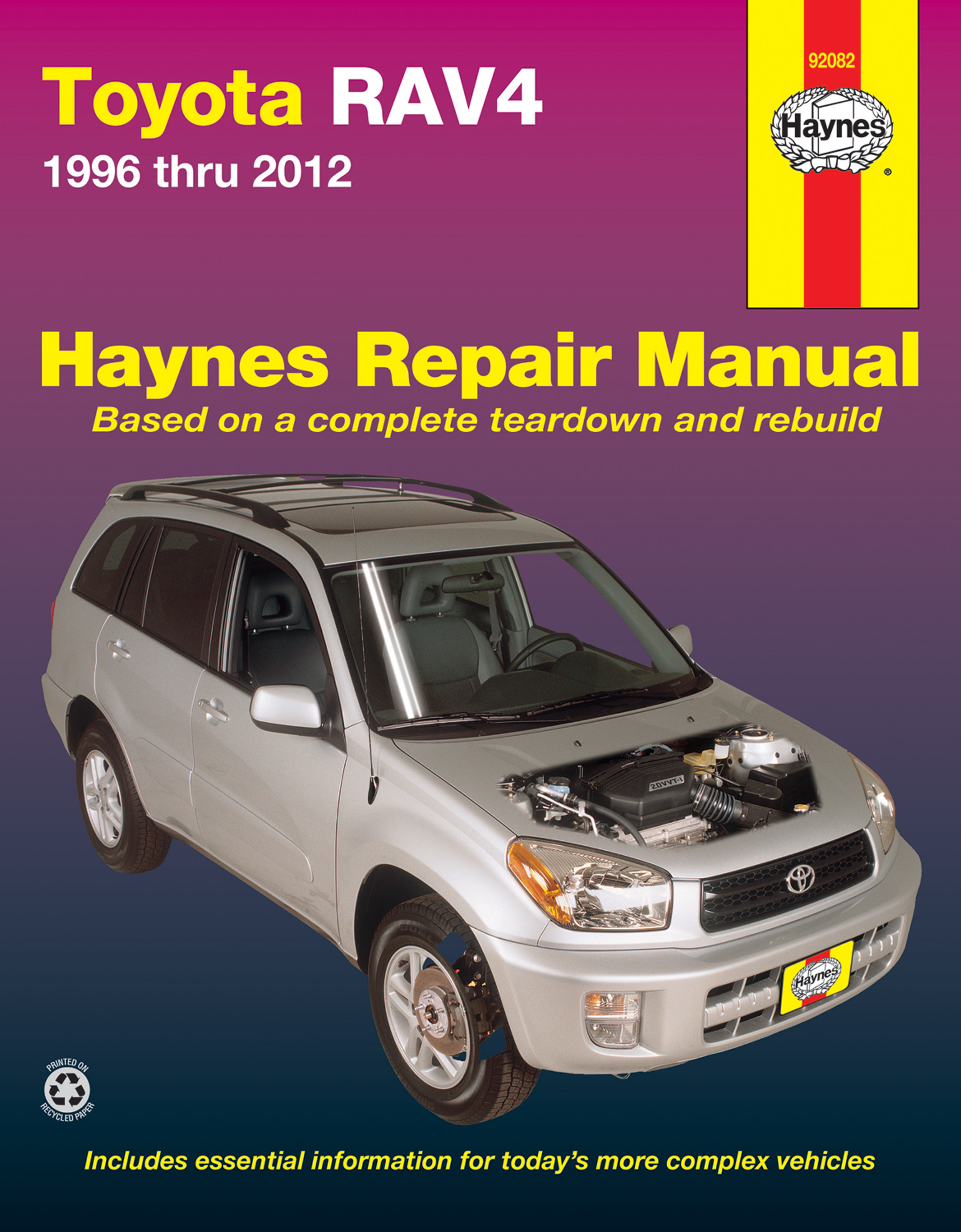 Enlarge Toyota RAV4 (96-12) Haynes Repair Manual