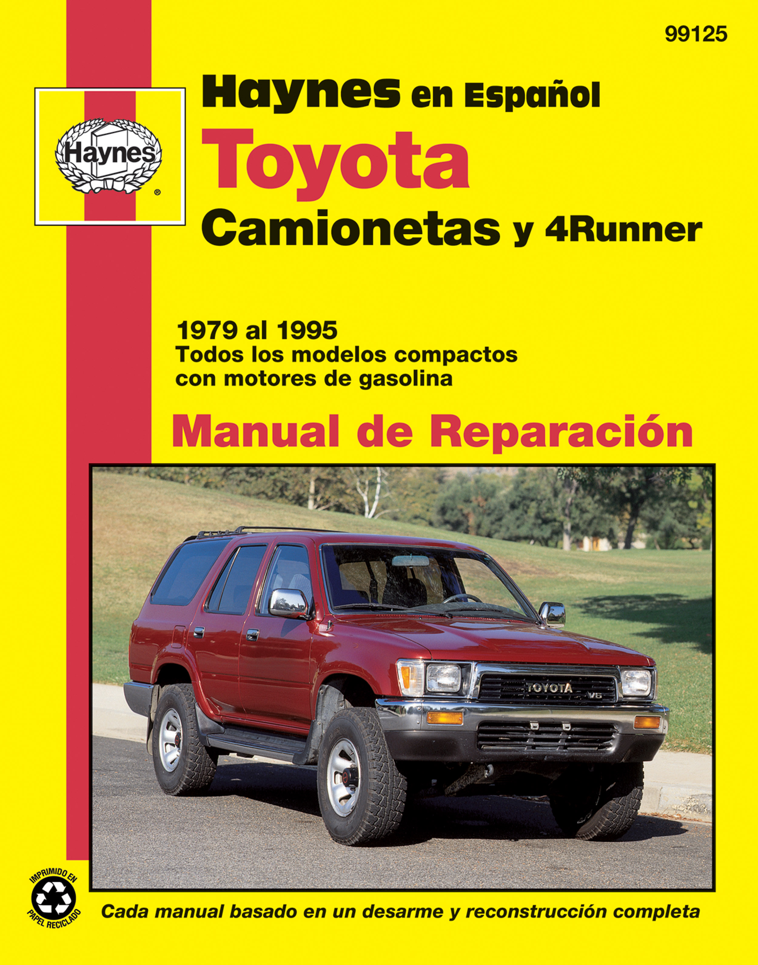 toyota camionetas y 4 runner haynes manual de reparaci n 79 95 rh haynes com 1995 toyota 4runner repair manual free download 1995 toyota 4runner repair manual free