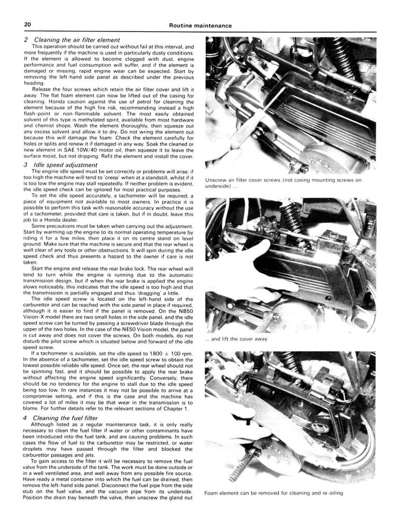 honda ne/nb50 vision & sa50 vision met-in scooters (85-95) haynes, Wiring diagram