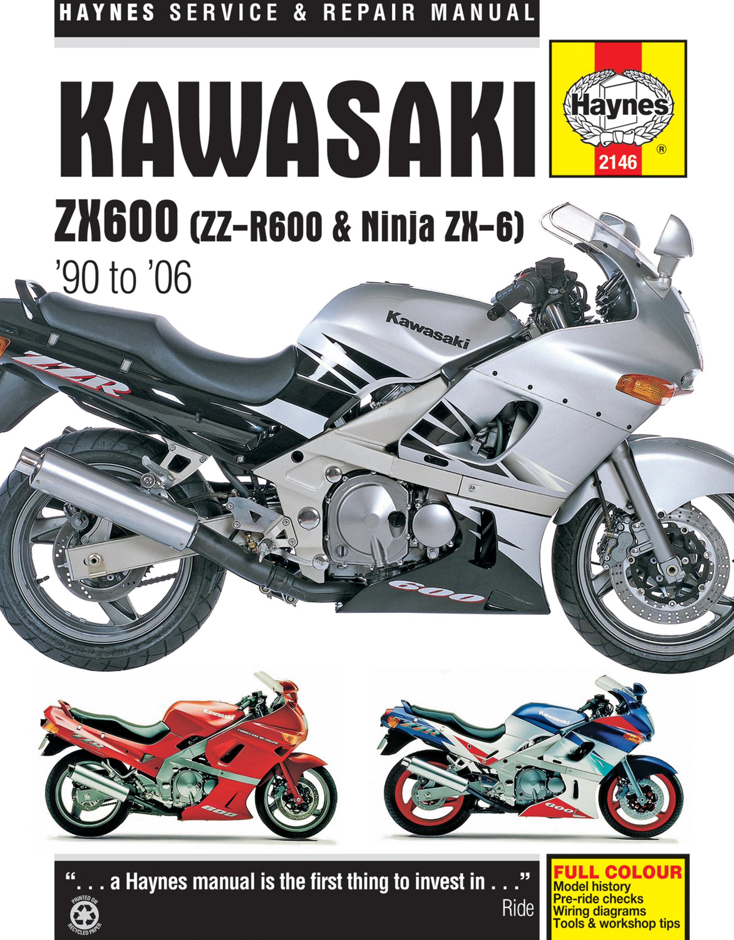 Kawasaki ZX600, ZZ-R600 & Ninja ZX-6 (90-06) Haynes Repair Manual