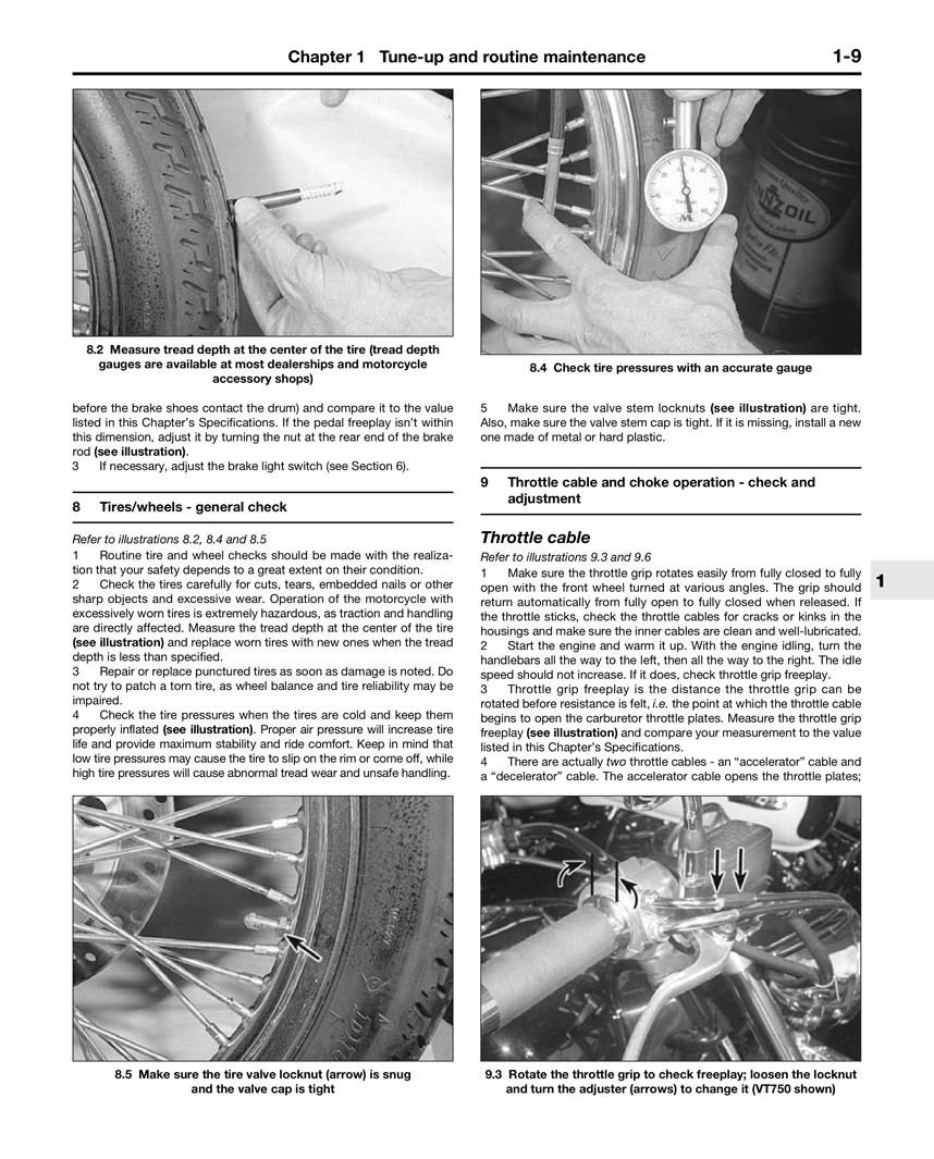 Honda Motorcycle VT600C Shadow VLX (1988 - 1989) Repair Manuals
