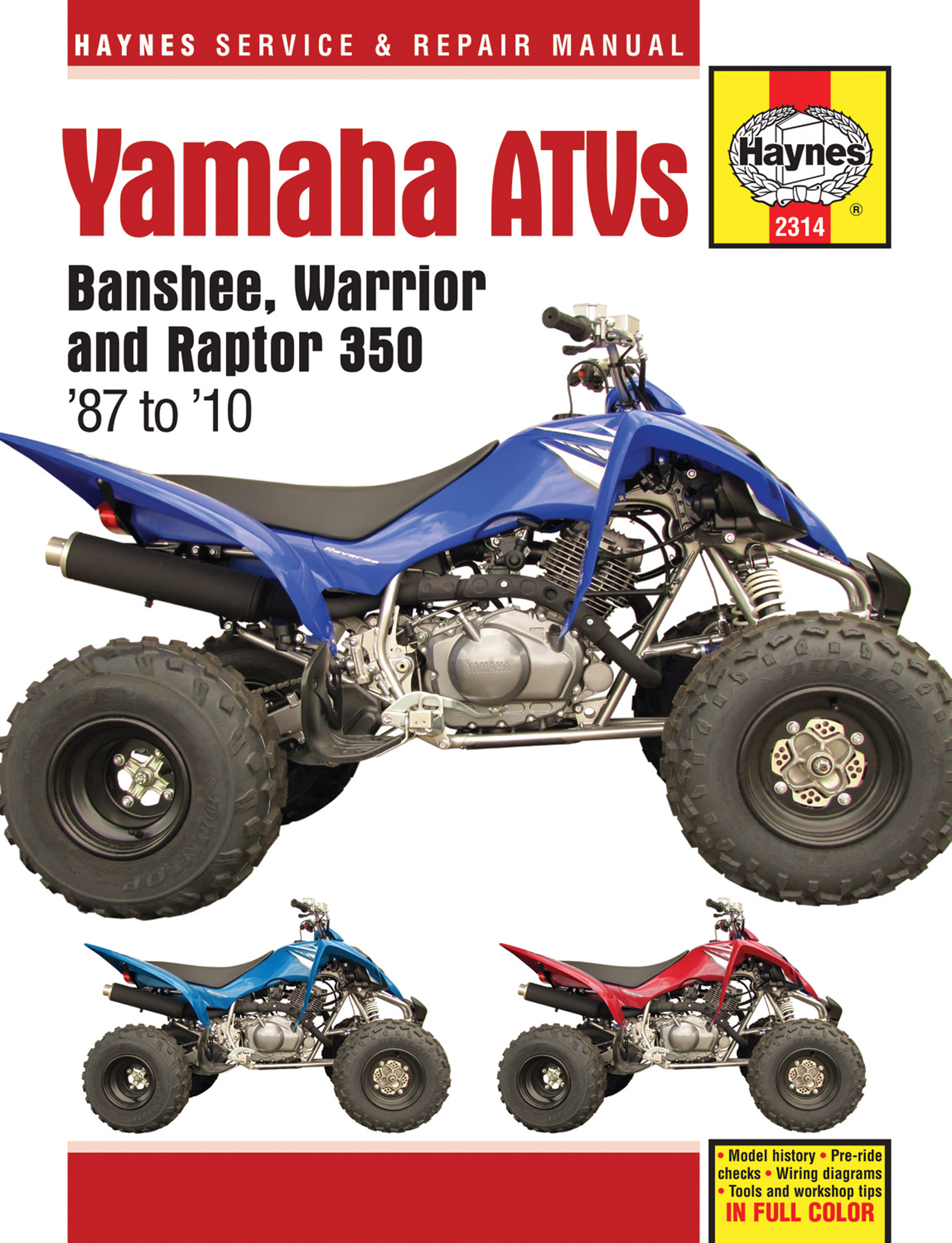 Yamaha Yfz350 Banshee 1987 2006 Repair Manuals 2000 350 Warrior Wiring Diagram Enlarge