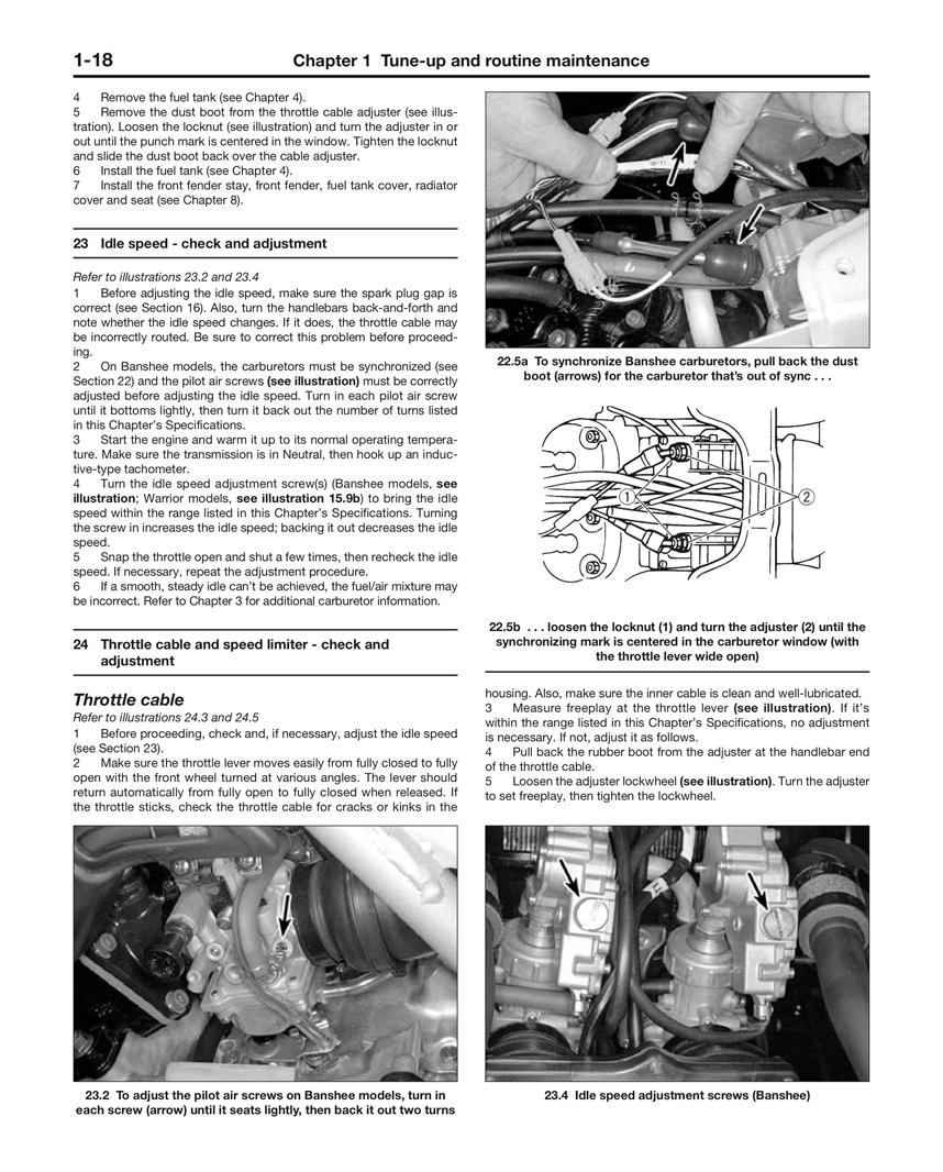 Yfz350 Banshee Haynes Manuals 2000 Yamaha Wiring Diagram Scroll Right