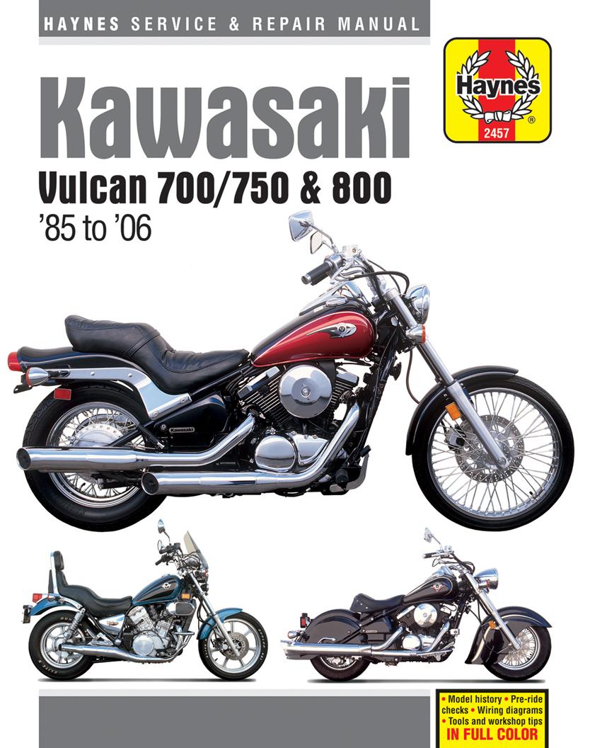 Haynes M2457 cover kawasaki vulcan 700 (1985), vulcan 750 (85 06), vulcan 800 (95 05 1990 Kawasaki Vulcan 750 at edmiracle.co