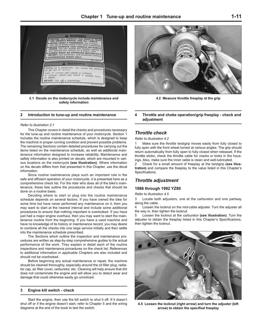 2 Stroke Motocross Bikes Haynes Manuals Yamaha Wiring Diagrams Page 4 Scroll Right