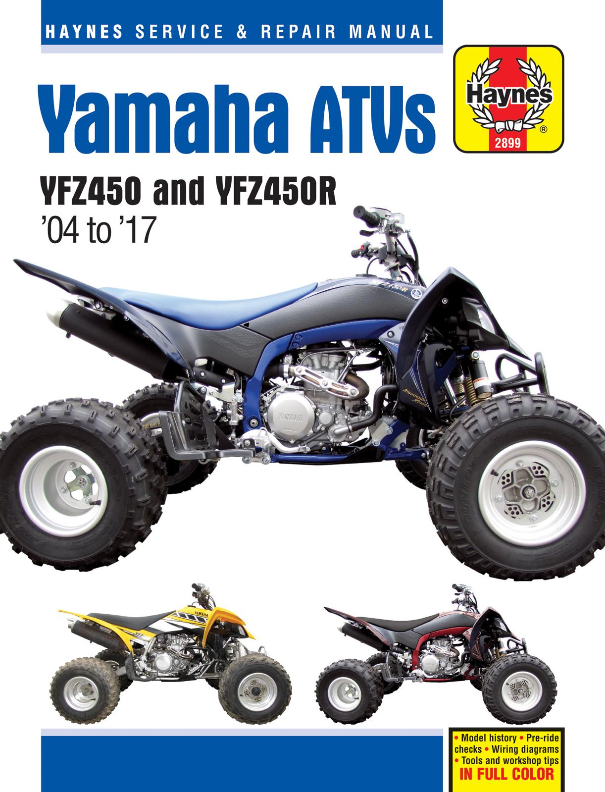 Clymer Repair Manuals for Yamaha YFZ 450 2004-2009