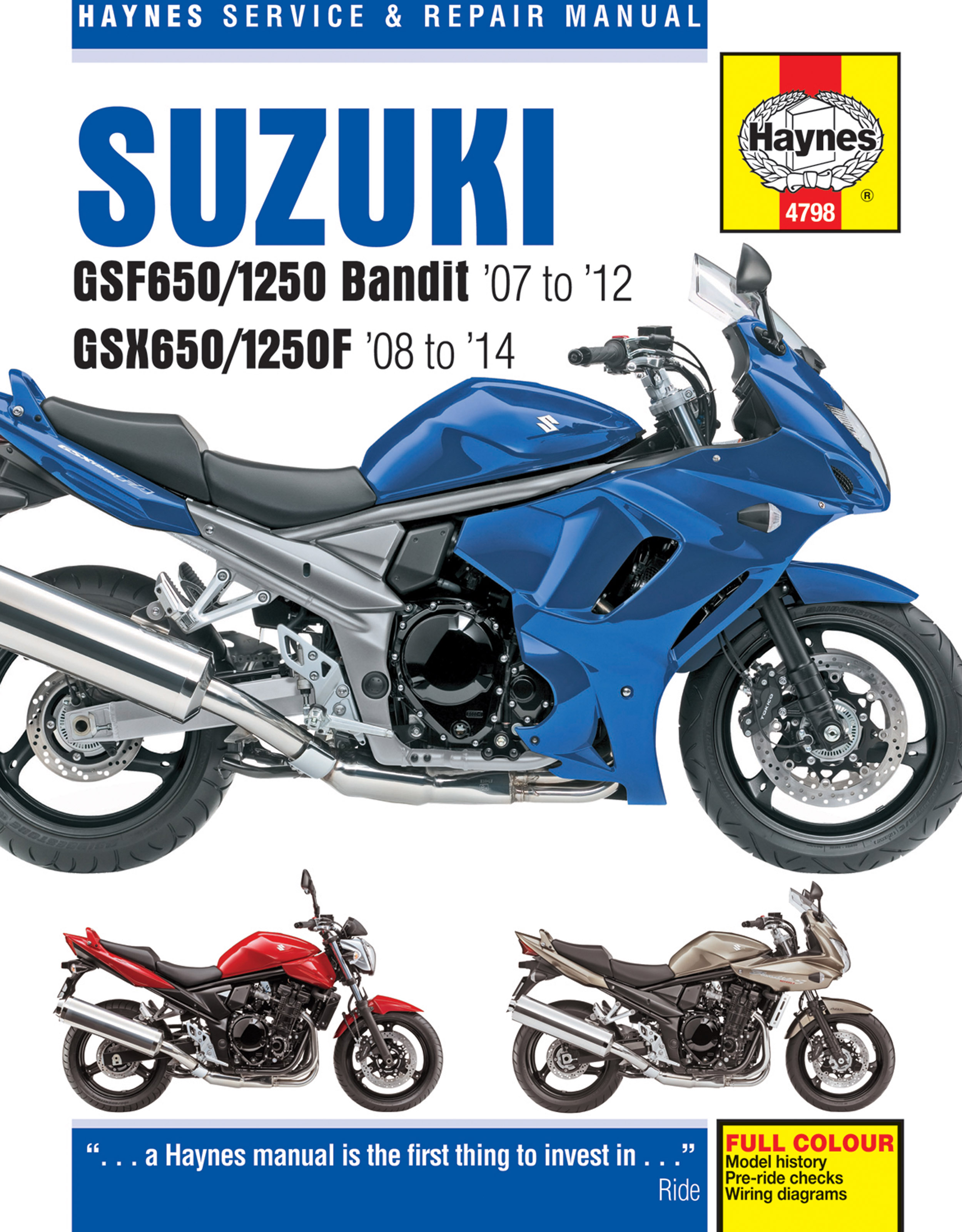 Printed manual. Enlarge Suzuki GSF650/1250 ...