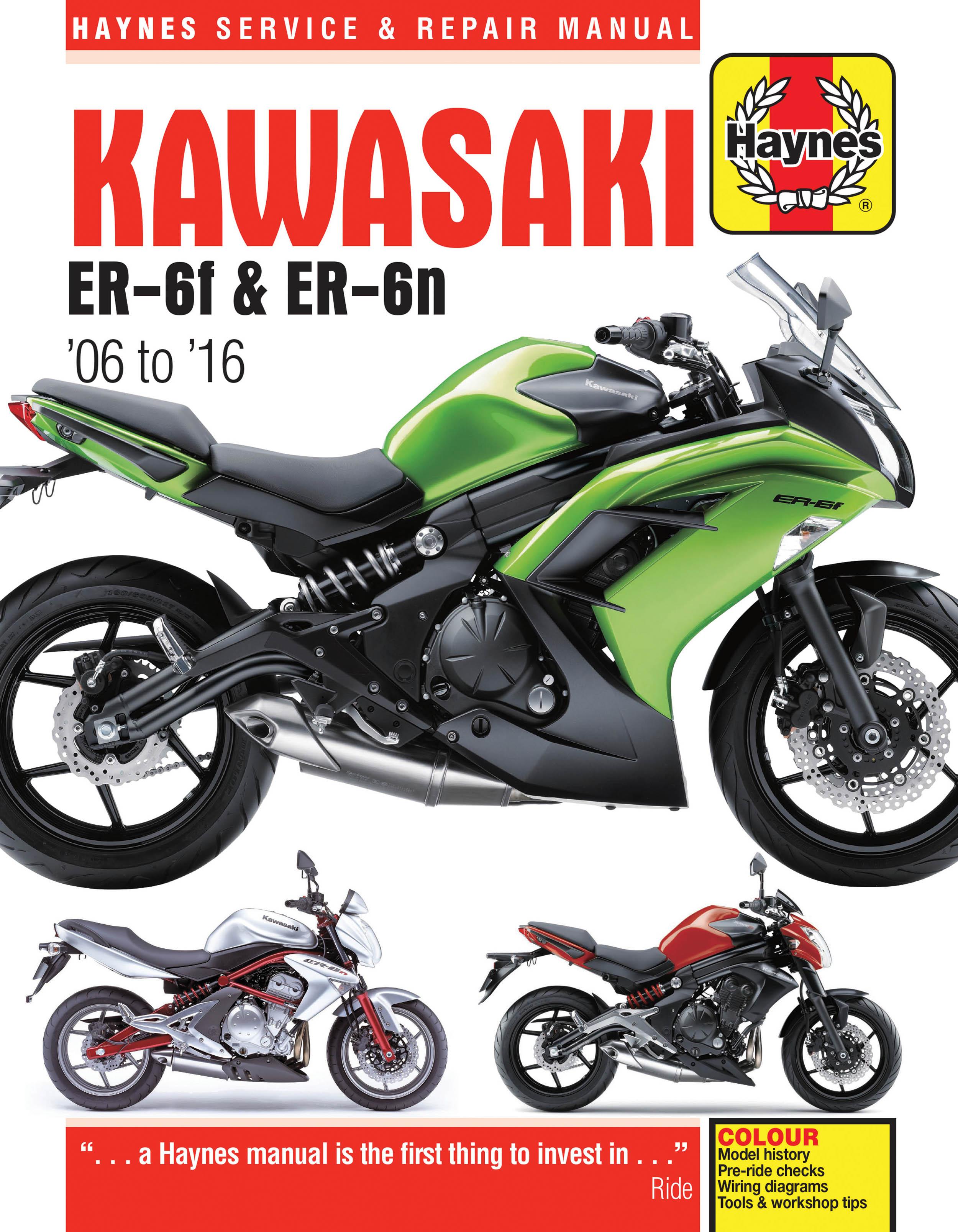 Kawasaki EX650 & ER650 (06-16) Haynes Repair Manual