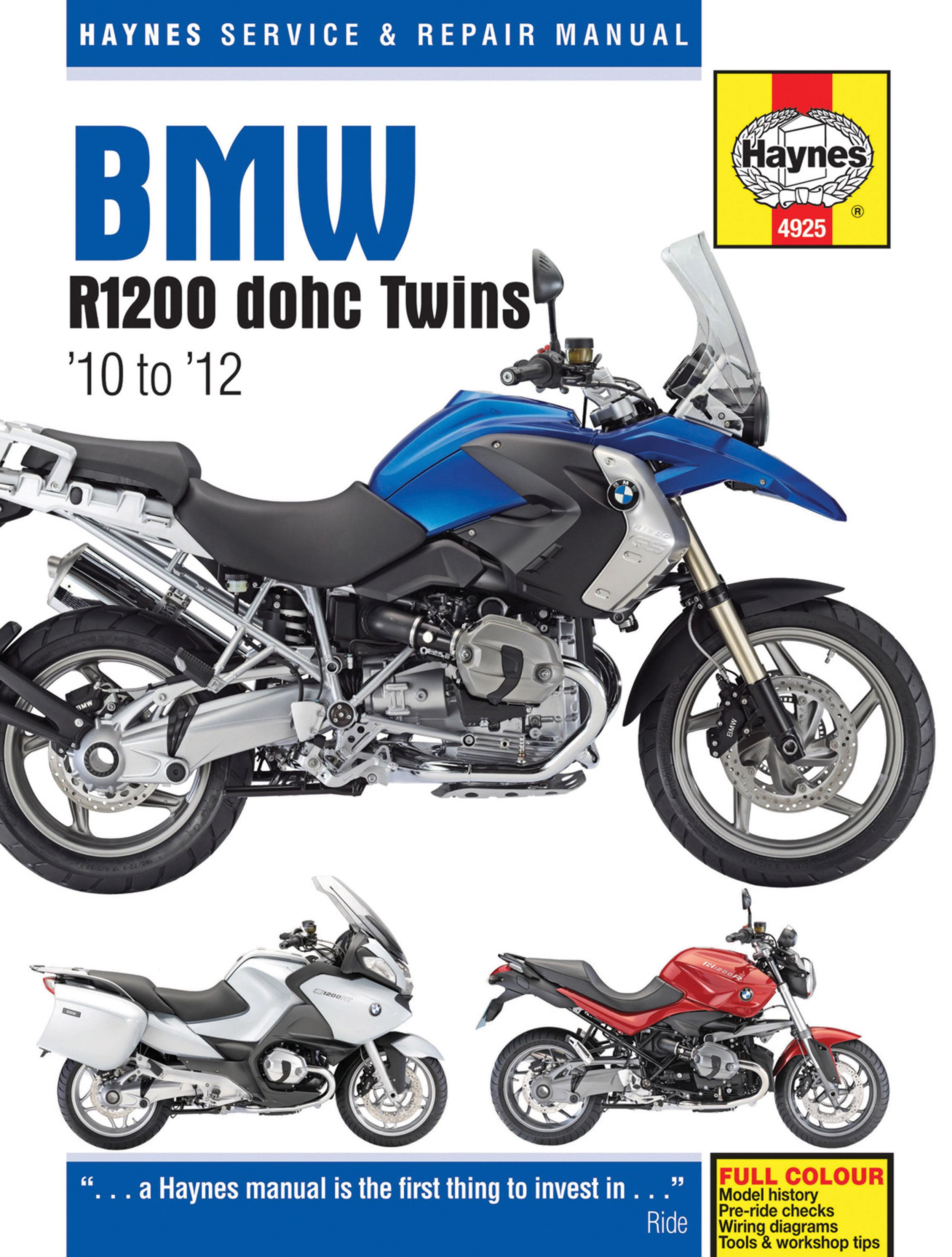 BMW R1200 dohc Twins 10 12 Haynes Repair Manual