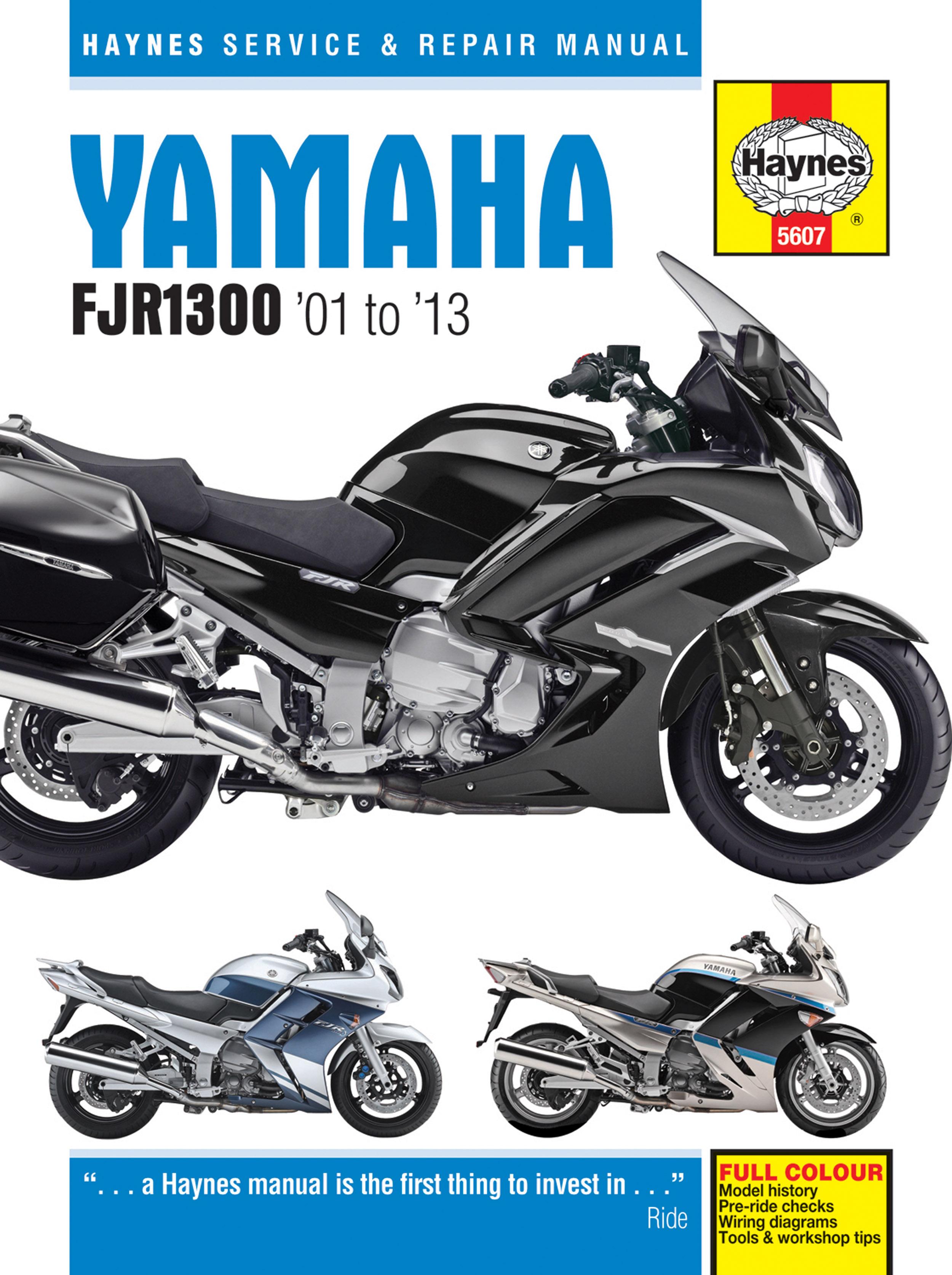 Haynes M5607 cover yamaha fjr1300 (01 13) haynes repair manual haynes manuals 2014 Yamaha FJR1300 at n-0.co