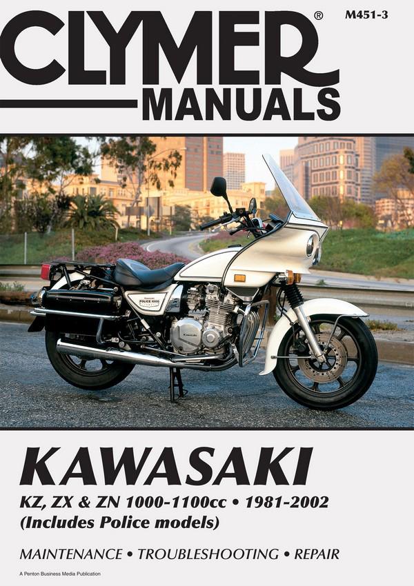 Kawasaki KZ, ZX & ZN 1000-1100cc Motorcycle (1981-2002) Service Repair Manual