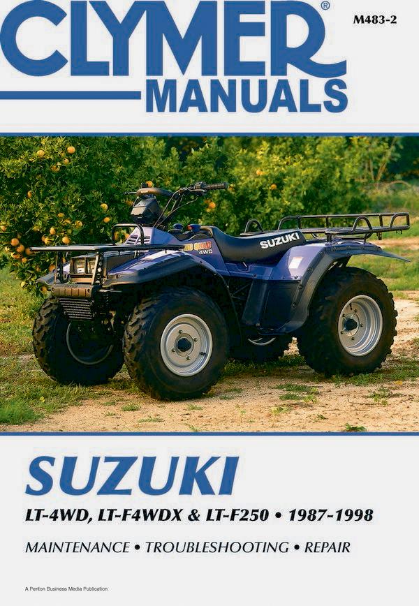 Suzuki LT-4WD, LT-F4WDX & LT-F250 ATV (1987-1998) Service Repair Manual