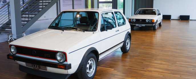 Early Rabbit/Golf at VW museum in Germany