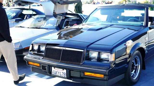 Buick Grand National and Delorian at Radwood