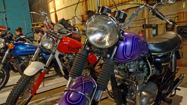 Two Triumphs and a Kawasaki