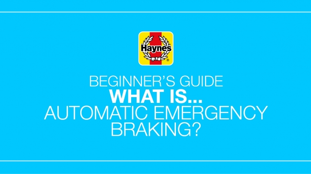 What is automatic emergency braking?