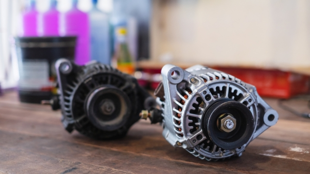 new and old alternators