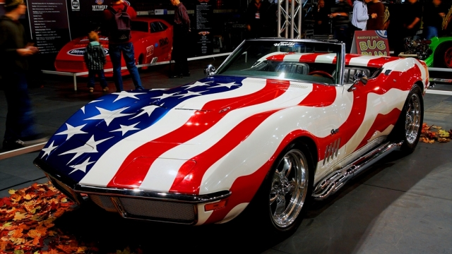 Red white and blue C3 corvette
