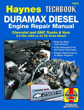Duramax Diesel Engine for Chevrolet & GMC Trucks & Vans (01-19) Haynes Techbook