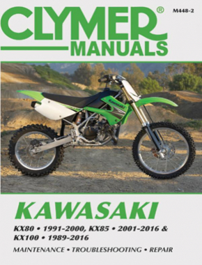 Kawasaki KX80 (1991-2000), KX85/85-II (2001-2016) & KX100 (1989-2016) Service Repair Manual