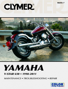 Yamaha V-Star 650 Manual Motorcycle (1998-2011) Service Repair Manual Online Manual