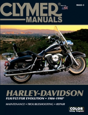 Harley-Davidson Road King, Electra, Tour Glide, Low Rider Motorcycle (1984-1998) Clymer Repair Manual