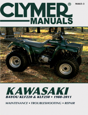Kawasaki Bayou KLF220 & KLF250 ATV (1988-2011) Service Repair Manual