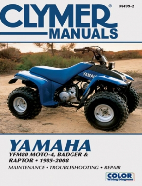 Yamaha YFM80 Moto-4, Badger and Raptor ATV (1985-2008) Service Repair Manual Online Manual