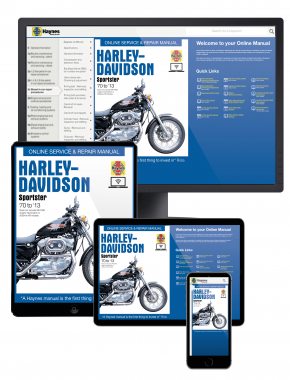 Harley-Davidson Sportster (70-13) Haynes Online Manual covering XL, XLH, XLCH, XLS and XLX with 883/1000/1100 and 1200 engines