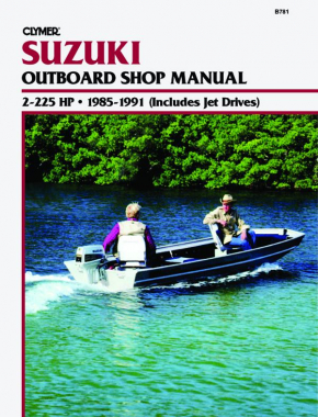 Suzuki 2-225 HP Outboards Includes Jet Drives (1985-1991) Service Repair Manual