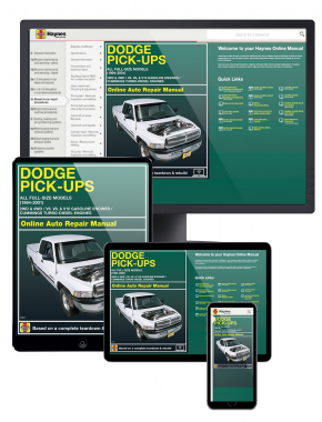 Dodge Full-size Pick-ups (94-01) with gasoline and Cummins turbo-diesel engines Haynes Online Manual