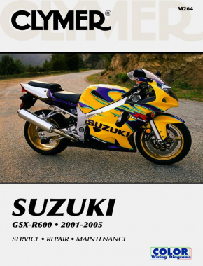 Suzuki GSX-R600 Series Motorcycle (2001-2005) Service Repair Manual