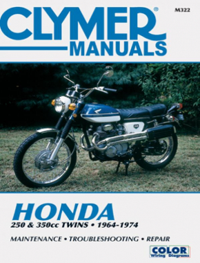 Honda 250 & 350 CC Twins Motorcycle (1964-1974) Service Repair Manual
