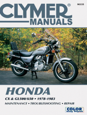 Honda CX and GL500/650 Motorcycle (1978-1983) Service Repair Manual