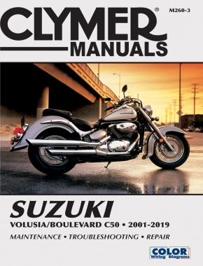 Suzuki Volusia (01-04) & Boulevard C50 (05-19) Clymer Repair Manual