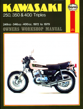Kawasaki 250, 350 and 400 triples S1 series (72-76), S2 series (72-73) S3 series (74-76) KH250 (75-79) KH400 (75-79) Haynes Repair Manual
