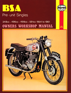 BSA Pre-unit Singles (54-61) Haynes Repair Manual