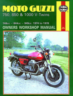 Moto Guzzi 850 and 1000 V-Twins 844cc and 949cc (75-78) Haynes Repair Manual