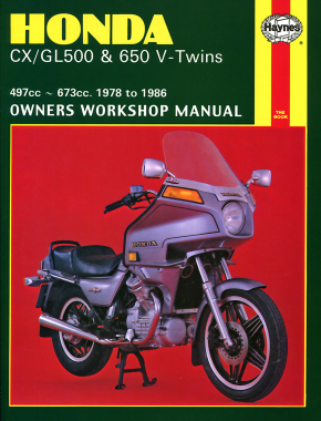 Honda CX/GL500 & 650 V-Twins 497cc & 673cc (78-86) Haynes Repair Manual