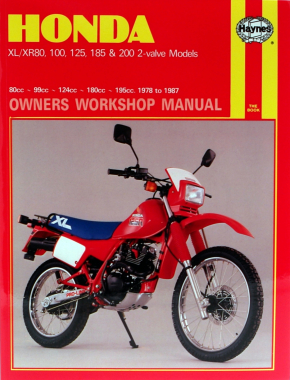 Honda XL/XR with 80cc thru 200cc engines (78-87) Haynes Repair Manual